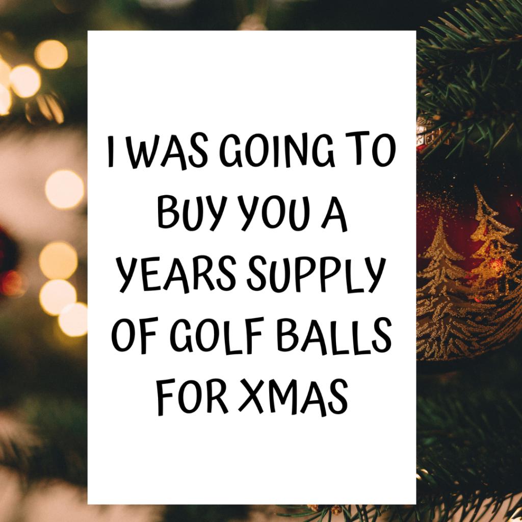 Xmas Golf Card